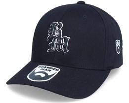 Old English Logo Black Flexfit - Bearded Man