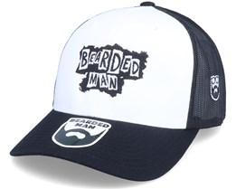 British Punk Logo Black/White/Black Trucker - Bearded Man