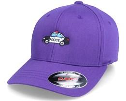 Kids Police Car Purple Flexfit - Kiddo Cap