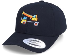 Kids Crane Vehicle Black Adjustable - Kiddo Cap