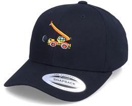 Kids Wrecking Truck Black Adjustable - Kiddo Cap