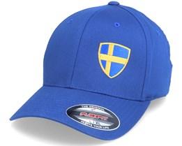 Sweden Flag Shield Blue Flexfit - Forza