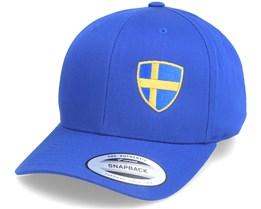 Kids Sweden Flag Shield Blue Adjustable - Forza