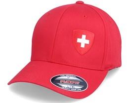 Switzerland Flag Shield Red Flexfit - Forza