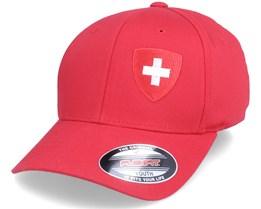 Kids Switzerland Flag Shield Red Flexfit - Forza