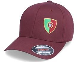 Portugal Flag Shield Maroon Flexfit - Forza