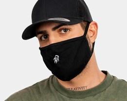 Tiny Astronaut Black Face Mask - Zeri